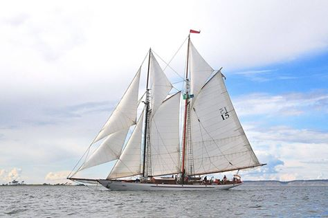 Adventuress under sail